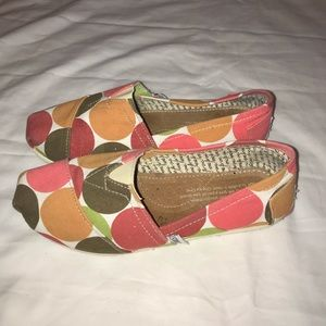 Toms polka dot shoes loafers 6
